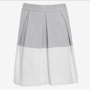 L'AGENCE Colorblock Pleated Skirt Size 6